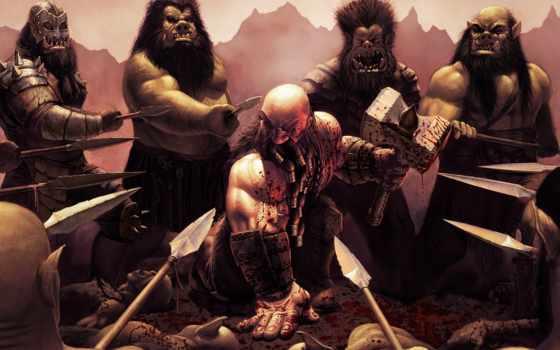 barbarian, argyle, steve, гном, битва, хаммер, среда, дварф,