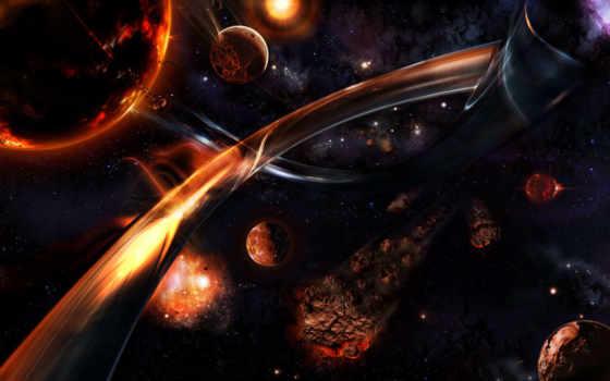космос, метеорит