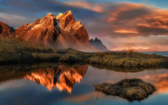 красивые, горы, водах, отражаются, скалистые, озера, невероятно, заболоченного, фотографий, лес,