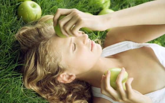 девушка, devushki, яблоком, яблоками, банка,