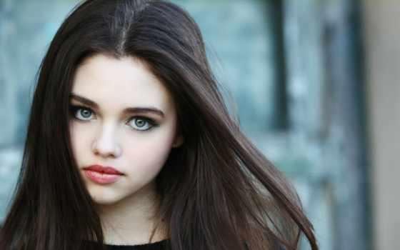 глазами, девушка, свет, eyes, огромными, волосы, зелёный, black, серыми,