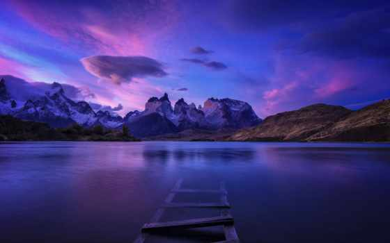 панорама, water, тело, patagonia, природа, landscape, фамилия, работать, pair, волк