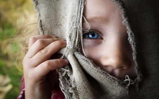 мешковина, девочка, глаз. люди, дети,
