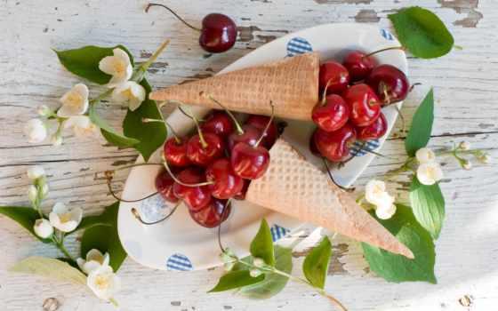 еда, cherry, фрукты