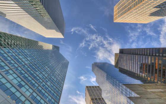 небоскребы, город, нью