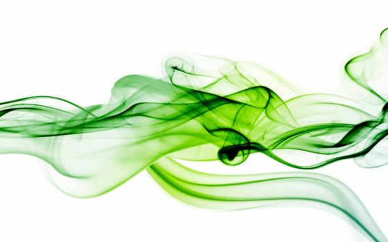 зелёный, дым, white
