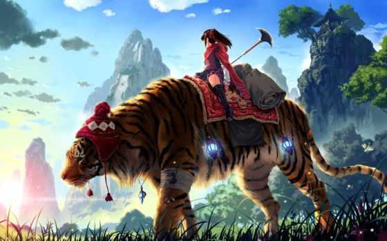 тигр, огромный, прокатиться, free, desktop,