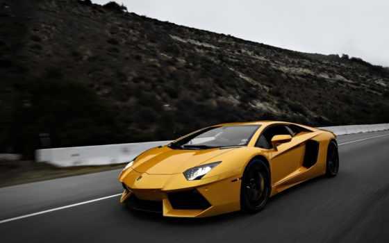 aventador, lamborghini, yellow, desktop, supercars, cars,