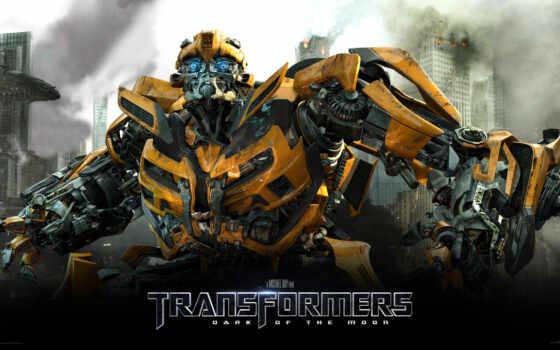 transformers, трансформеры, камаро, yellow, dark, луна,