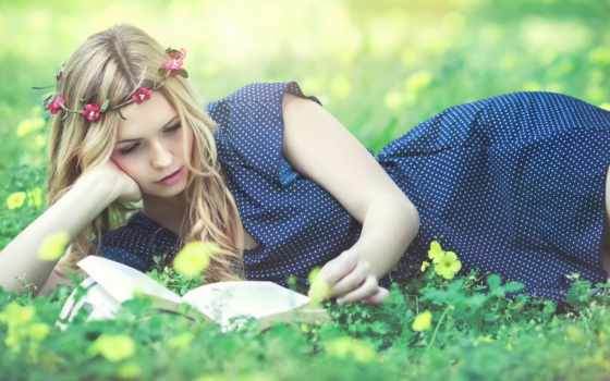 kery, garcia, rut, like, венок, платье, reading, книга, девушка,