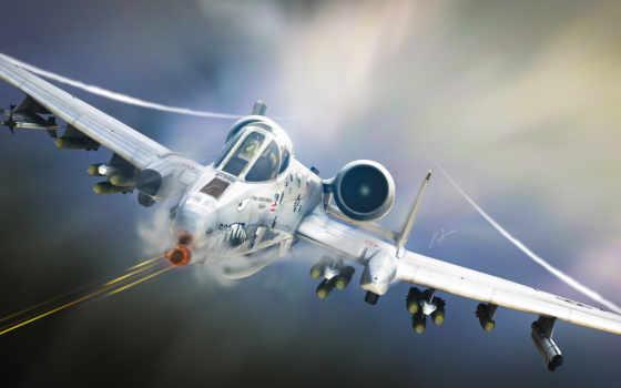 штурмовик, авиация, сша, самолёт, a-10, американский, thunderbolt, bbc, сила, tankbuster,