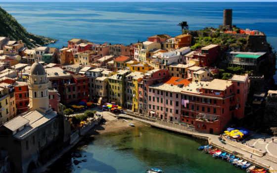 vernazza, italy, liguria, zoom, море, free, images,