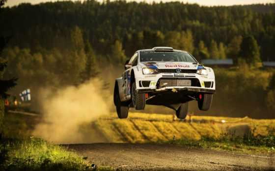 rally, wrc, volkswagen, прыжок, поло, финляндия,