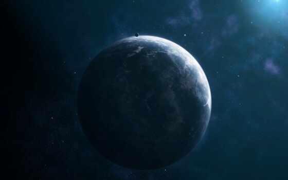 planet, комос, сияние, спутник, star, свет