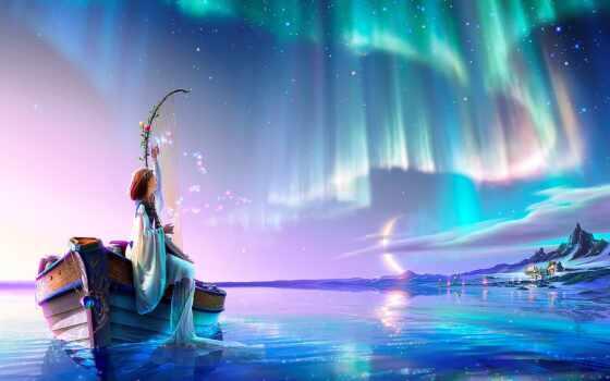 fantastic, kagaya, fantasy, celestial, art, фото, миро, artwork, день, shirokoformatnyi