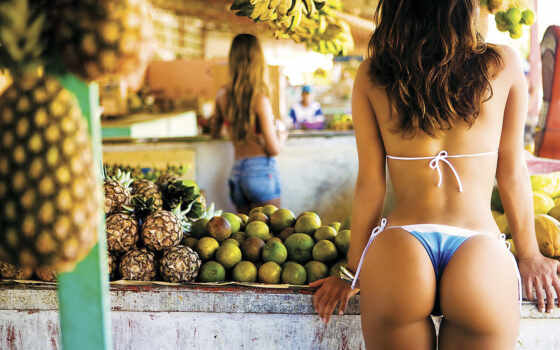 фрукты, devushka, devushki, вид, пейзаж,