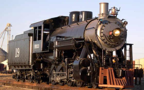 локомотив, steam, поезд
