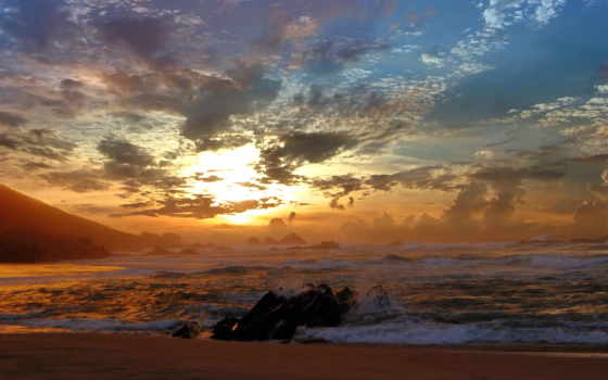 волны, priroda, море