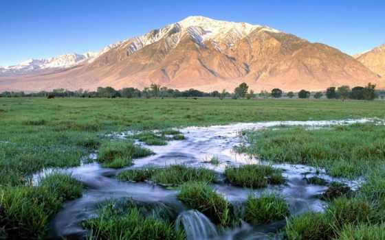 пейзажи -, горные, скалы, снежные, пики, горы,