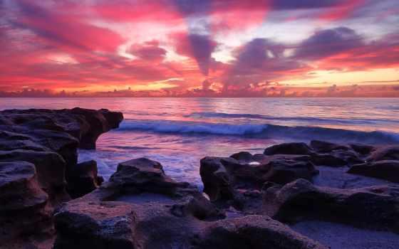 hintergrundbild, камни, море, закат, берег, kostenlose, скалы, kostenlos, пейзажи -, natur, pictures,