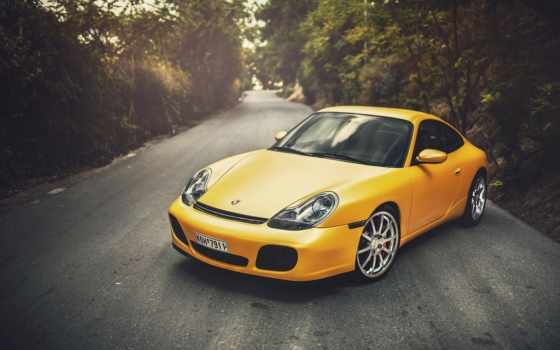 porsche, carrera, yellow, wildness, картинка, black,