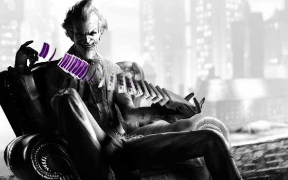 arkham, joker, batman, город, игры,