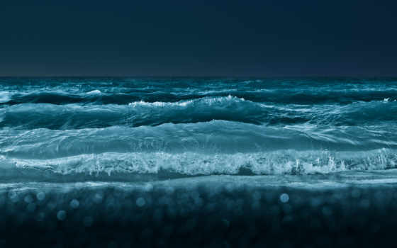 море, waves, ocean, water, glue, природа, ночь,