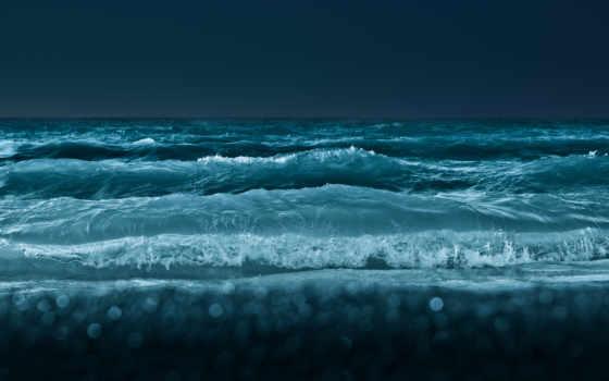 море, waves, ocean, water, glue, природа, ночь, кнопкой,