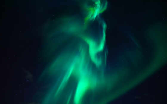 сияние, северное, небо, iphone, атмосфера, ночь, звездное, parallax,