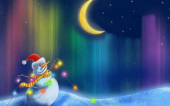 snowman, happy