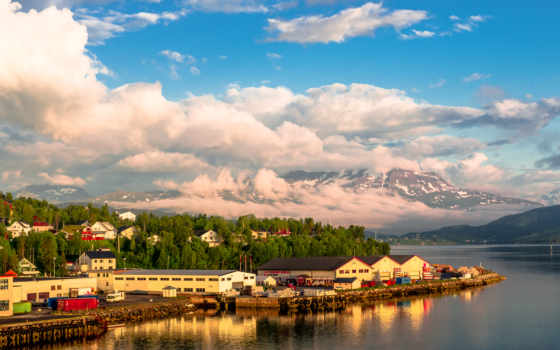 Норвегия, гора, река