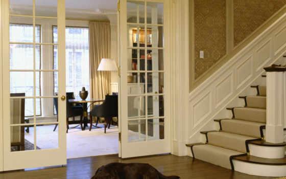 двери, стеклянные, интерьер, интерьера, интерьеры, дизайн, которого, межкомнатные, дом, выполнен, классика, интерьере, стиле,