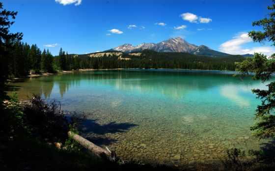 ozero, priroda, горы
