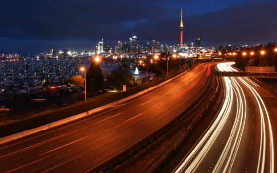 highway, ночь, desktop