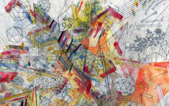 краски, чертежи, линии, back,