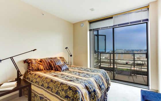 балкон, спальня, stock