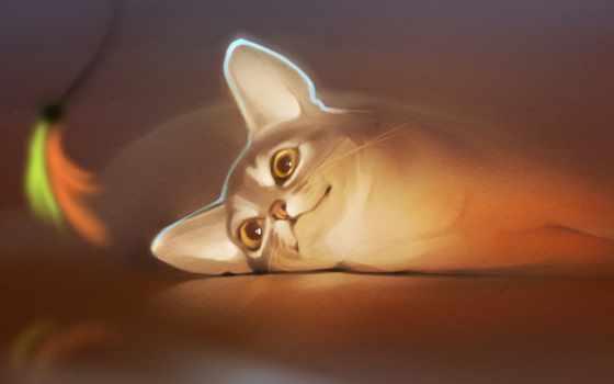 кот, gaudibuendia, без, аватар, ушки, смотрит, шевелящуюся, теме, лениво, diane,