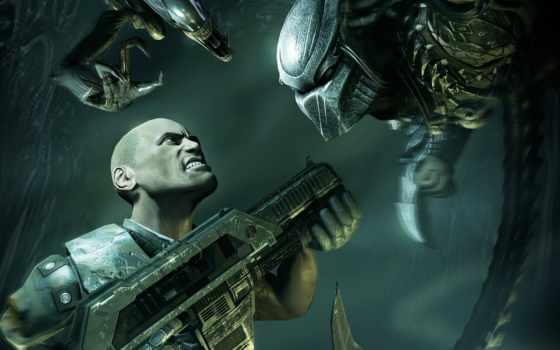 хищник, aliens, чужой, alien, акпп, оружие, мужчина, игры,
