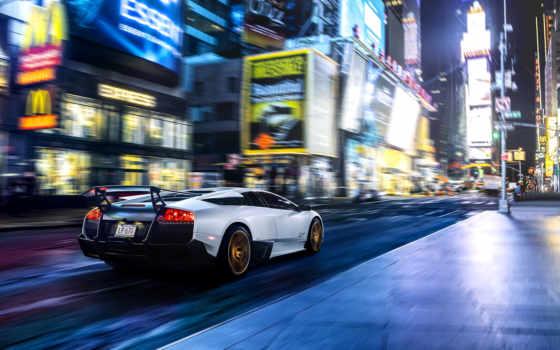 car, york, new, город, square, размытость, motion, usa,