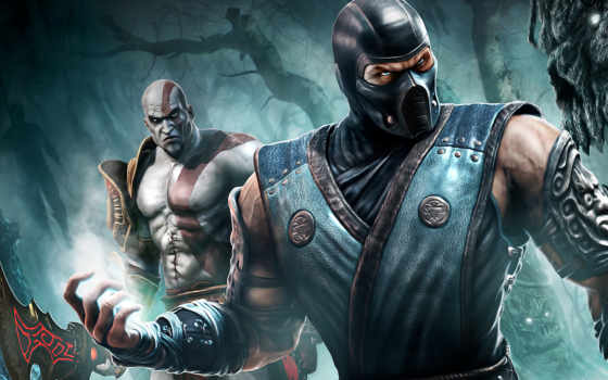 kombat, mortal, kratos, sub, zero, саб, зиро, кратос, wallpaper, games, wallpapers, смотрите, mk, игры, hd,