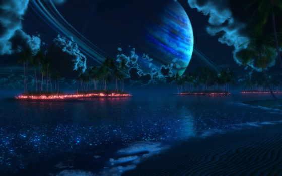 digital, планета, пальмы, острова, ночь, nightfall, thetis, tropic, culprit, blasphemy, правой, кнопкой, картинку, remix, картинка, мыши, сатурн, images,