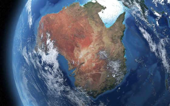 ,космос, Австралия, земля, океаны,