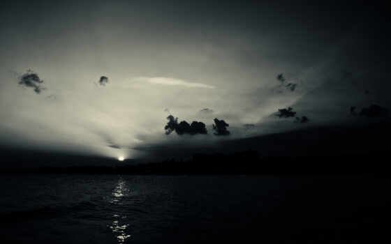 отражение, water, закат