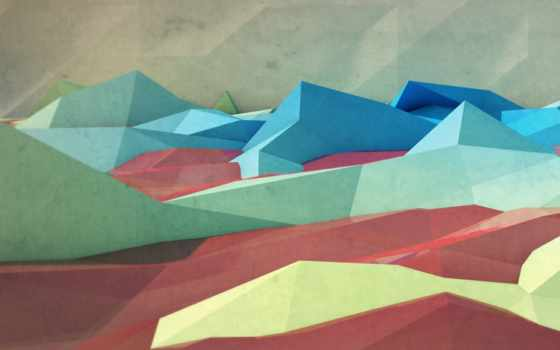 горы,треугольник,картинка,