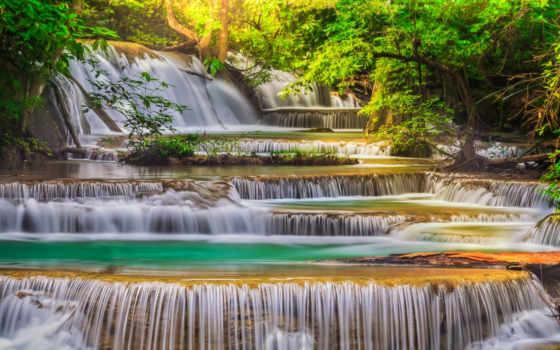 erawan, водопад, stock