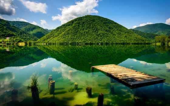 природа, горы, landscape, картинка, озеро, trees, reki, герцеговина, босния, река, природы,
