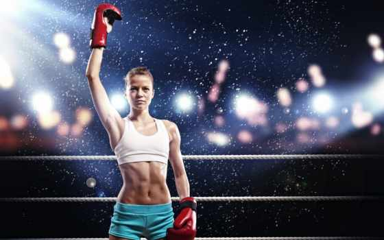 спорт, ринг, boxing, девушка, картинка,