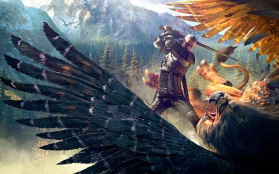 ведьмак, кровь, вино, hunt, wild, дикая, hunting, игры,
