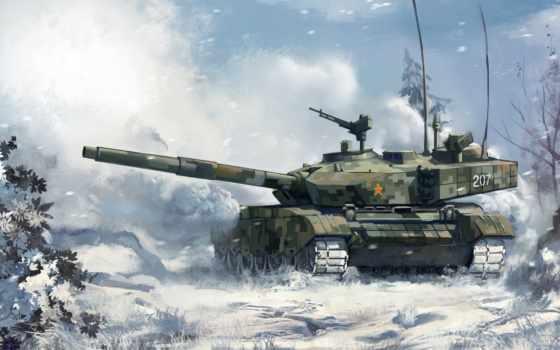 , танки, лес, снег, оружие, компьютер,