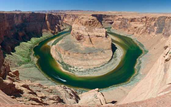 каньон, colorado, гранд, англ, река, каньона, подкова, русск, reki, сша, arizona,